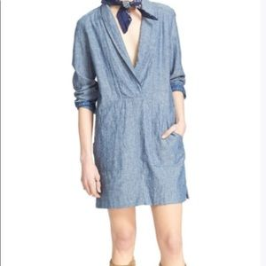 Free People Chambray Done-Up Dress